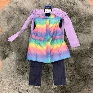 Andy & Evan   Girl's 2 Piece Set   Vest and Shirt